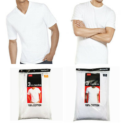 New 3-6 Pack For Men's 100% Cotton Tagless T-Shirt Undershirt Tee White S-XL