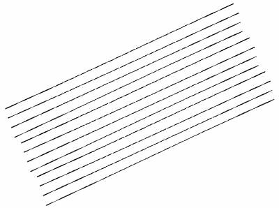 """Vermont American 30430 5"""" 46 TPI Plain End Scroll Saw Blades 12 Count"""