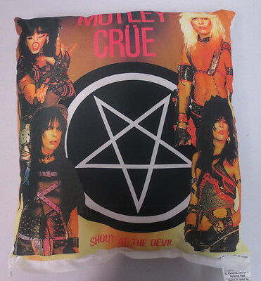 Motley Crue Rock & Roll Pillow Band 19X19 Inches Nikry Novelties Vintage Retro