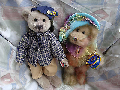 """PICKFORD BEARS """"BRASS BUTTON"""" x2 LIKE NEW! BENNET AND HARLOW"""
