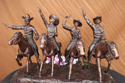 Frederick Remington Coming Through the Rye Statue Cowboy Horse Bronze (Large)