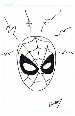 Spider-Man Original Art Sketch 11 x 17 John Livesay