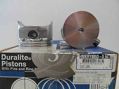 ACL pistons & rings 4KRY8053 0.50mm 20th size Holden Gemini RB