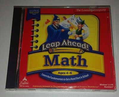 THE LEARNING COMPANY LEAP AHEAD MATH Educational Pc Cd Rom For Ages 4-6