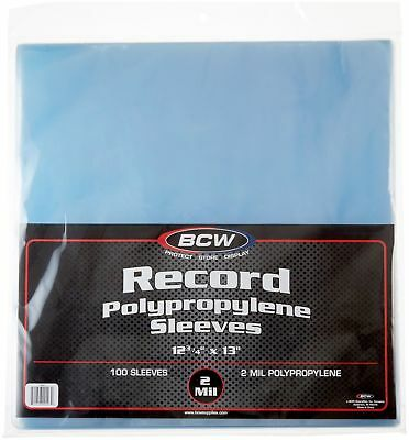 """Package of 100 New BCW 12-3/4"""" x 13"""" 2-Mil Poly Sleeves for LPs"""