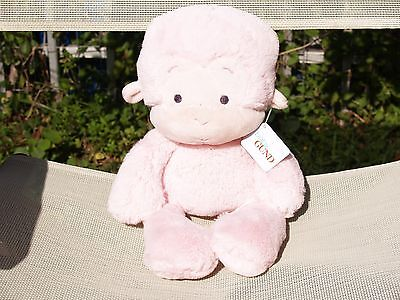 "Ultra Rare - Baby Gund - Pastel Pink - Meme Monkey - #320410 -14"" -New- All Tags"