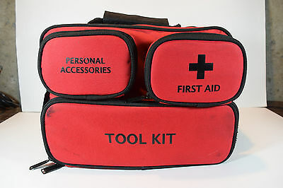 JUSTINCASE Roadside Emergency Kit & First Aid with Tool Kit