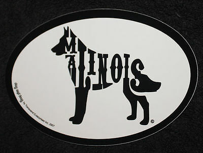 Belgian Malinois Oval Euro Style Car Dog Decal Sticker