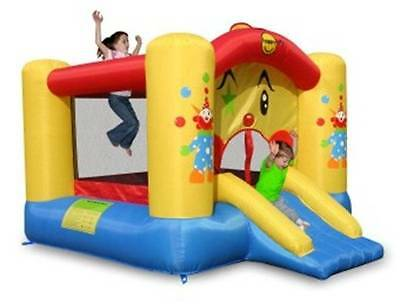 Clown bouncer with Slide and Basketball Hoop 9201
