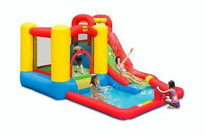 HAPPY HOP Jump & Splash Adventure Jumping Castle/Water Slide with Cannon 9271N