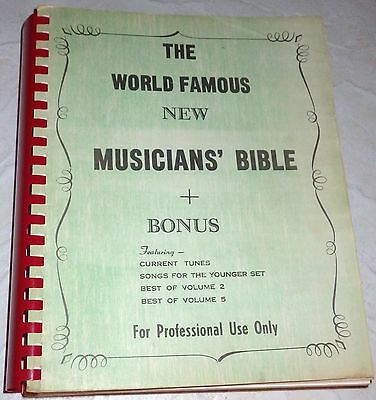 The World Famous New Musician's Bible Bonus Current Tunes Professional Use Only