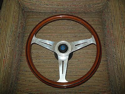 "Mercedes NARDI 15.3"" 390 mm Wood Steering Wheel with Adapter fits R107"