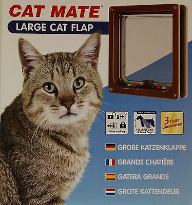 Chatière CHAT MATE 221b brun 4-voies Porte de chat