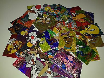 Lot Of 47  Warner Bros Vending Vintage Looney Tunes Stickers From Hanna Barbera