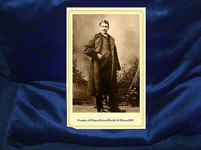 ORVILLE H. GIBSON 1894 Founder Gibson Guitars Cabinet Card Photograph Vintage RP