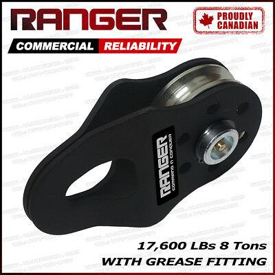 Ranger 8 Tons 17,600 LBs Snatch Block with Grease Fitting Pulley by Ultranger