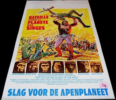 1973 Battle for the Planet of the Apes ORIGINAL BELGIAN POSTERJ. Lee Thompson