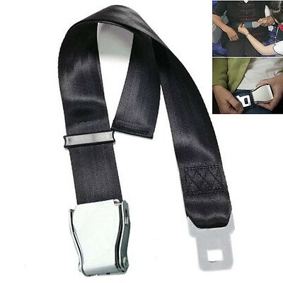 55-100cm Black Plane Airplane Aeroplane Airline Seat Belt Extension Extender