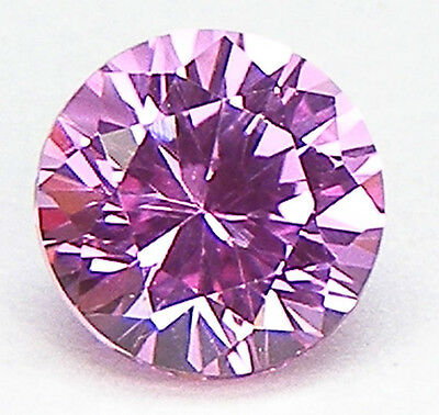 Excellent Cut Round Brilliant 7 Mm. Beautiful Colour Sweet Pink Lab Sapphire