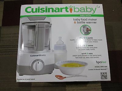 Cuisinart BFM-1000 Baby Food Maker and Bottle Warmer GRAY BRAND NEW OPEN BOXED