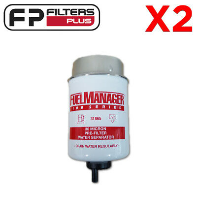 2 X 31865 -  Fuel Manager Filter 30 Micron - Protect Your Injectors - 109mm Long