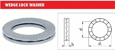 NORD-LOCK WEDGE LOCK METRIC WASHERS SIZE M10 x 10.7D x16.7D1 x 2.7H ( 4 SETS )