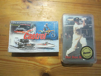 Don Bradman And Castrol Playing Cards