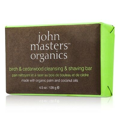 John Masters Organics Birch & Cedarwood Cleansing & Shaving Bar 128g Bath
