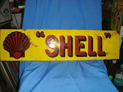 Old vintage Porcelain Enamel Shell sign board from England  1930