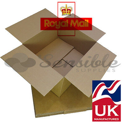 50 x ROYAL MAIL 'DEEP' MAXIMUM SIZE SMALL PARCEL CARDBOARD BOXES 350x250x160mm