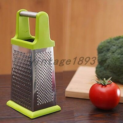 4in1 Grater Shredder Slicer Cheese Potato Turnip Cucumber Strips Stainless Steel
