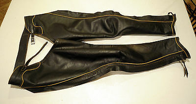 JOURNEYMEN custom leather full chaps, ADULT, piping
