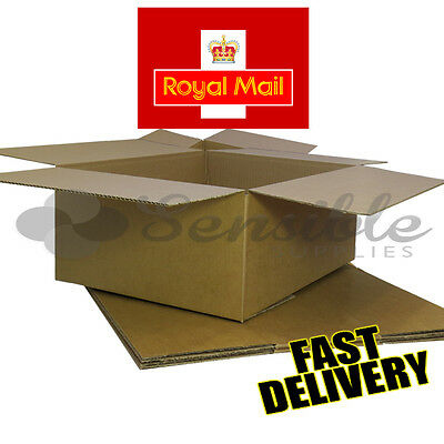 5 NEW LATEST ROYAL MAIL MAXIMUM SIZE SMALL PARCEL CARDBOARD BOXES 450x350x160mm