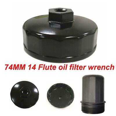 Mercedes Cartridge Oil Filter Wrench Cap Socket Removal Tool 74mm Black For Benz