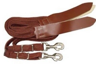 Western/Stock/GP Horse Split Reins Soft Tubular Braided In Black Or Brown - *NEW
