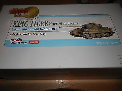 Dragon Armour 1/35 King Tiger Command Tank W/zimmerit S.pz.abt.506 Arnhem 1944