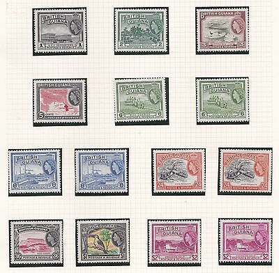 British Guiana  1954 - 63   2Pages   Set Of 15 + Various Dlr Values  Vlmh