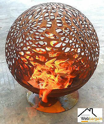 Garden Fire Pit Portable Heater Cut Out Bowl Charcoal Outdoor Patio Wood Burner