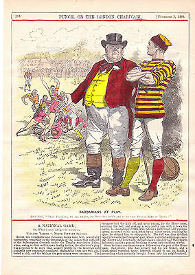 "Rugby. "" Barbarians At Play "" 1888.very Rare."
