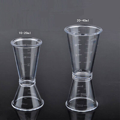 PC Resin Double Single Shot Measure Jigger Spirit Bars Hotels Cocktail Drink Cup