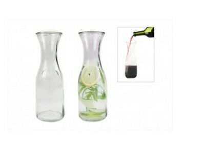 1L Litre Clear Glass Water Wine Drinks Carafe Decanter Serving Fridge Bottle