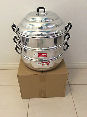 Brand New 3-Tier Aluminium Steamer 38 cm