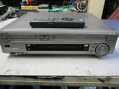 Sony Wv-Tw2 Video Hi8 And Vhs,vcr,hifi,twin Picture,very Rear,with Remote