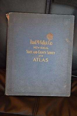1911 Rand McNally & Co.'s New Ideal State and County Survey and Atlas- road maps