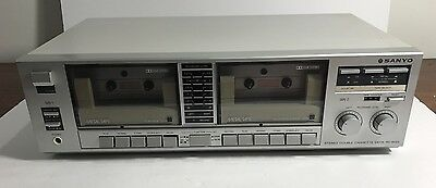 Sanyo Stereo Cassette Deck / Double Tape Player Rd-W22 Working Cond Free Post