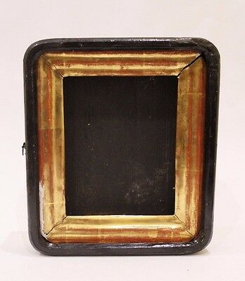 Antique 19c Russian Kiot Orthodox Wood Gold leaf Plated Hand Made Icon Frame Box