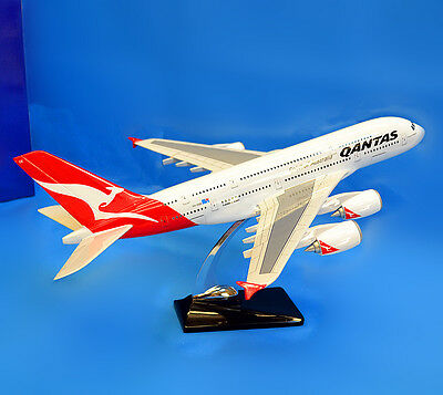 New QANTAS 1:162 Fibreglass Resin Airbus A380 Aircraft Plane Model 45cm Large