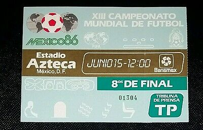 Mexico 86 Original 1986 world cup MEXICO v BULGARIA  2nd  round  ticket