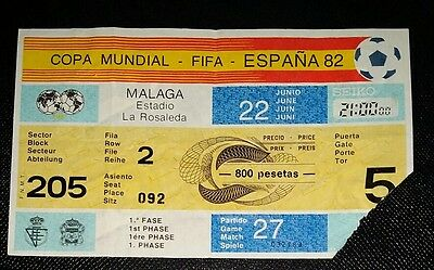 1982 world cup finals ticket USSR v Scotland  @ malaga