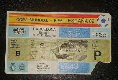 Espana 82 Original 1982 world cup argentina v brazil ticket